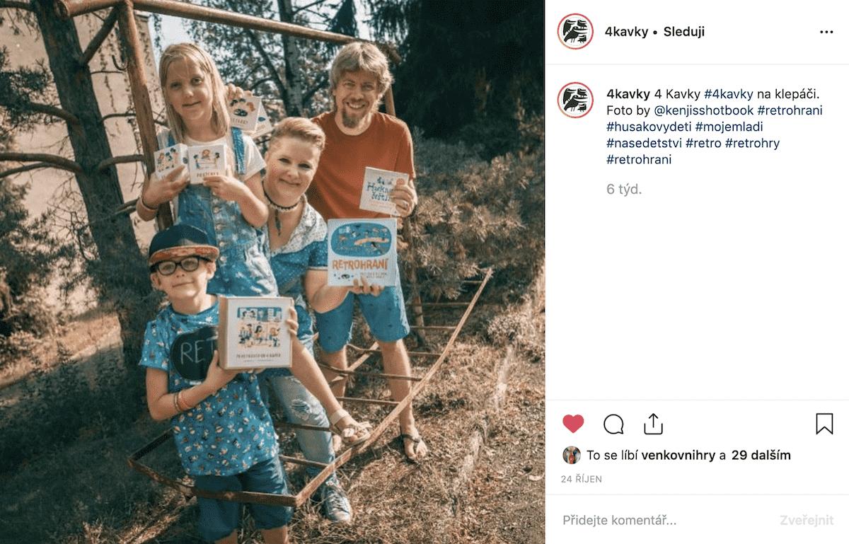4 Kavky na klepáči (Instagram)