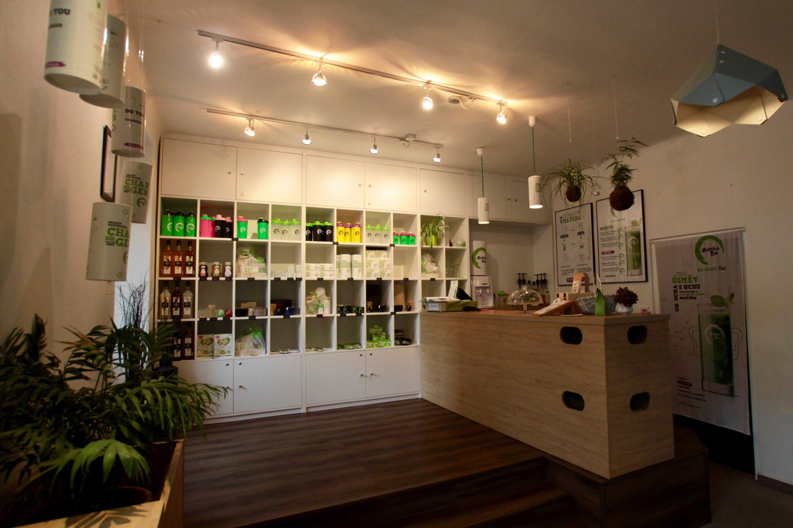 Kamenná prodejna shopu Matcha Tea.