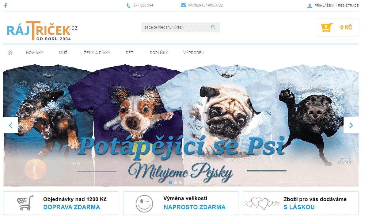 Kolekce triček Milujeme pejsky od RájTriček.cz.