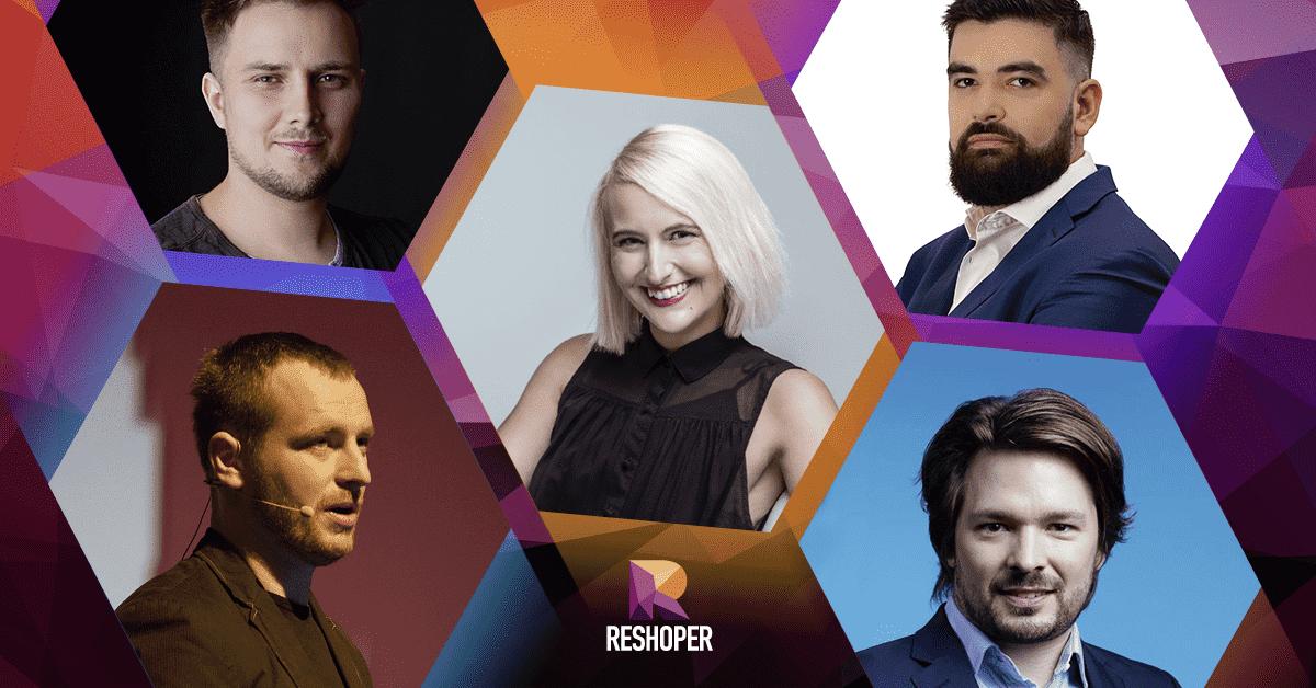 Řečníci na konferenci Reshoper 2019