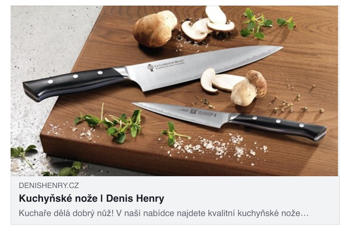 Kategorie Kuchyňské nože e-shopu Denishenry.cz.